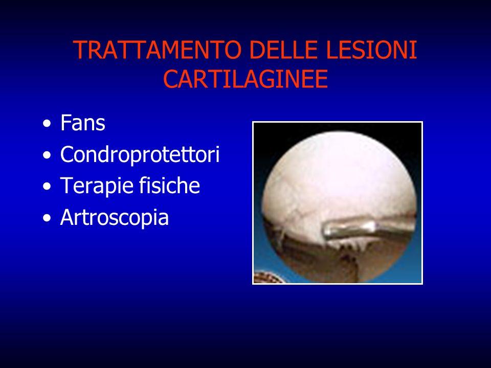 TRATTAMENTO DELLE LESIONI CARTILAGINEE Fans Condroprotettori Terapie fisiche Artroscopia