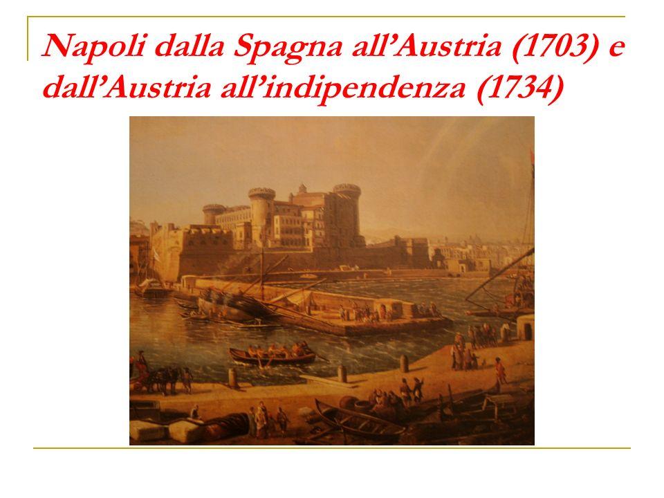 Napoli dalla Spagna allAustria (1703) e dallAustria allindipendenza (1734)