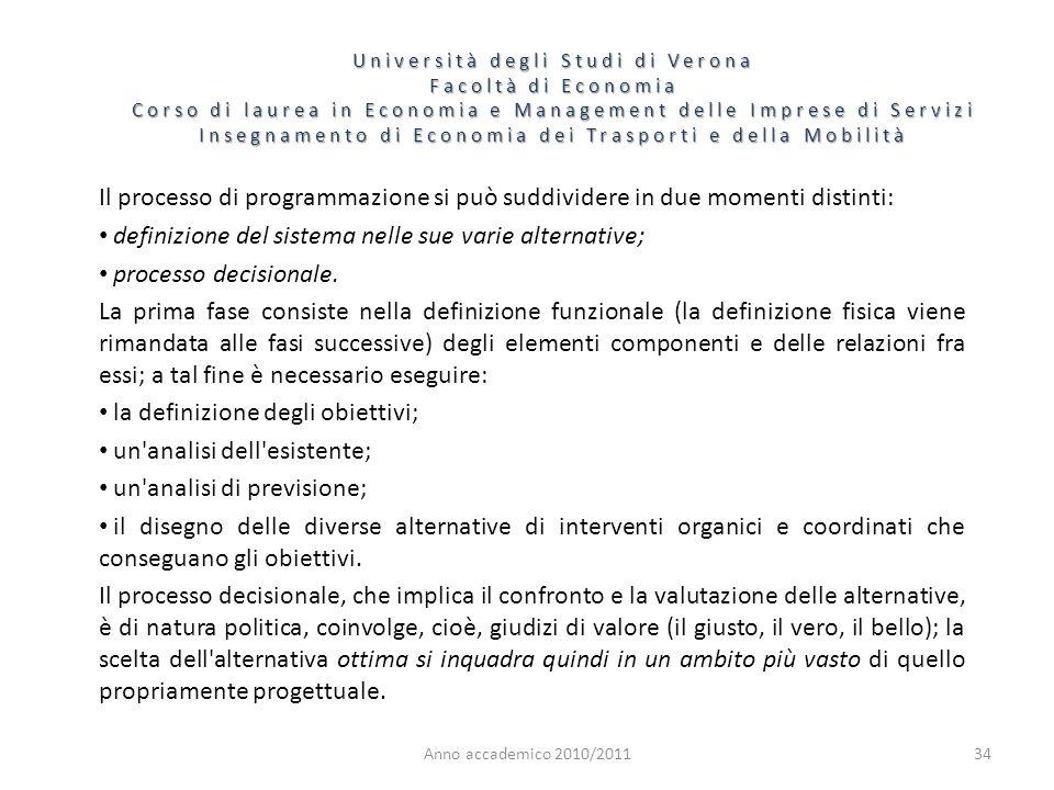 34 Università degli Studi di Verona Facoltà di Economia Corso di laurea in Economia e Management delle Imprese di Servizi Insegnamento di Economia dei