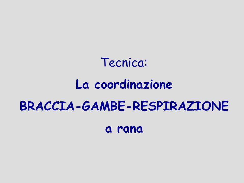 Tecnica: La coordinazione BRACCIA-GAMBE-RESPIRAZIONE a rana
