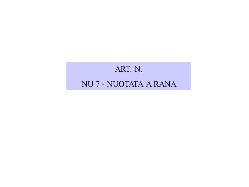 ART. N. NU 7 - NUOTATA A RANA