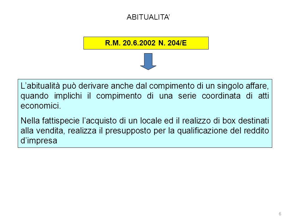 87 Disciplina fiscale dellammortamento Casi particolari: Le regole di ammortamento dellart.