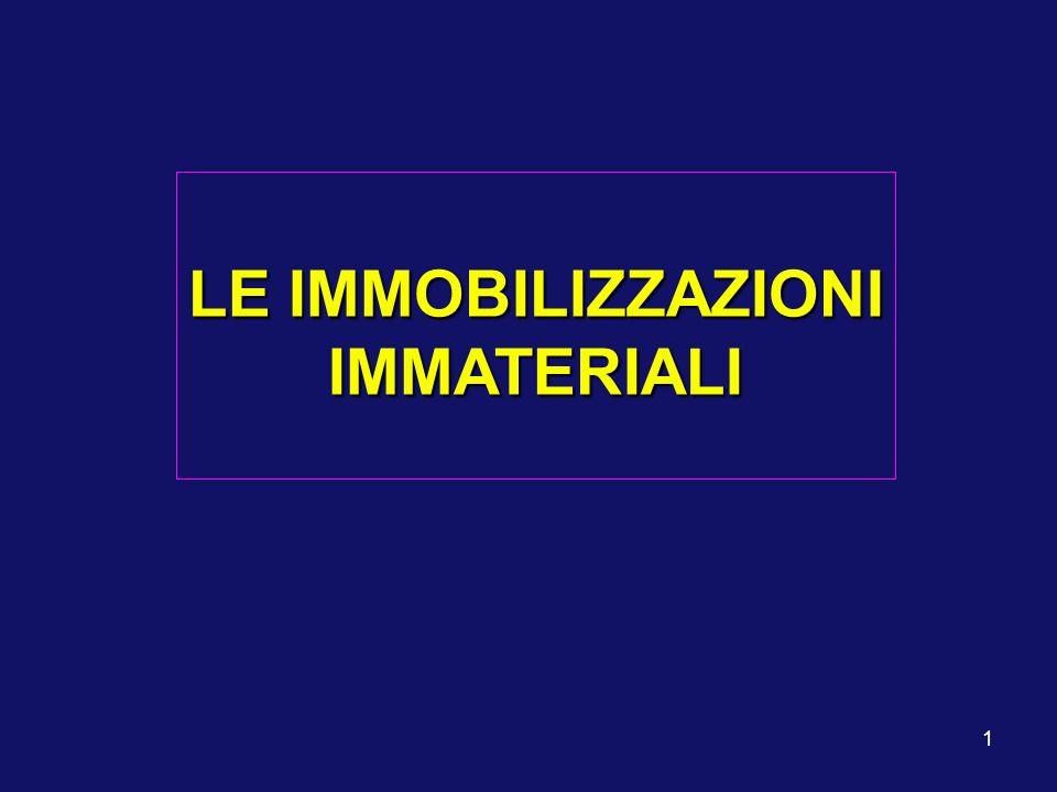 1 LE IMMOBILIZZAZIONI IMMATERIALI