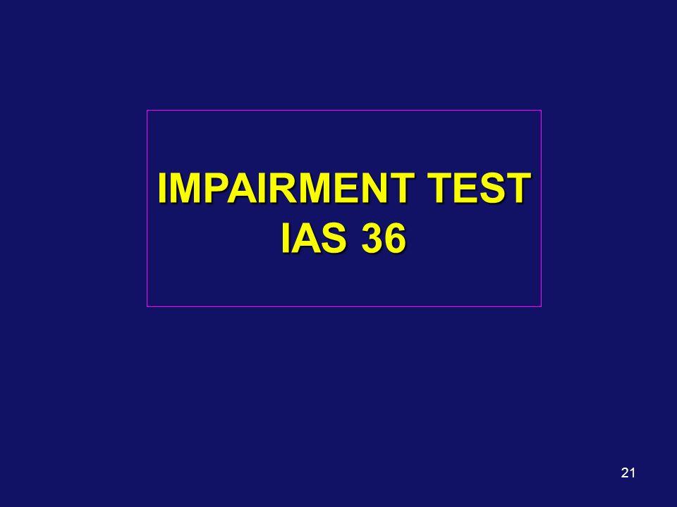 21 IMPAIRMENT TEST IAS 36