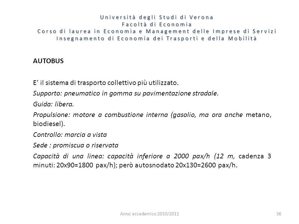 36 Università degli Studi di Verona Facoltà di Economia Corso di laurea in Economia e Management delle Imprese di Servizi Insegnamento di Economia dei