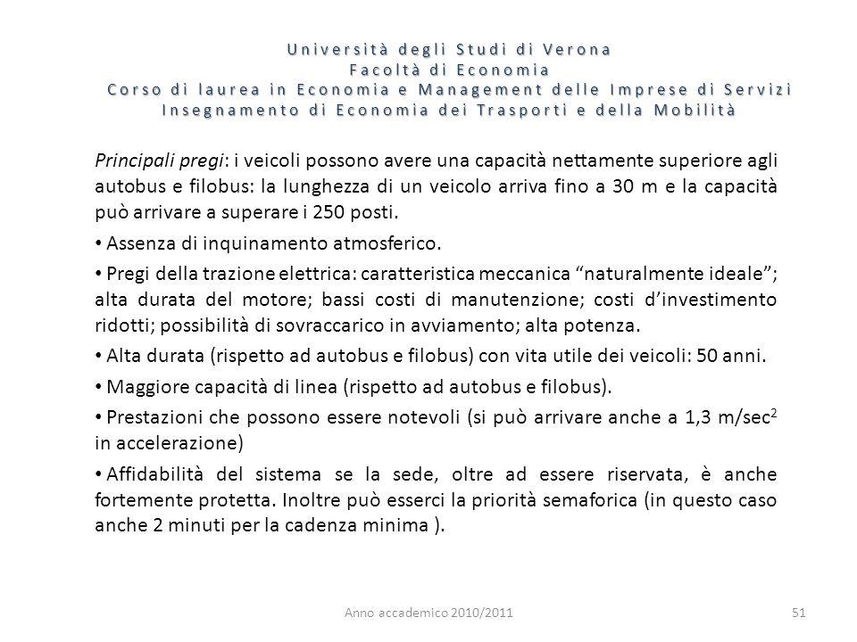 51 Università degli Studi di Verona Facoltà di Economia Corso di laurea in Economia e Management delle Imprese di Servizi Insegnamento di Economia dei
