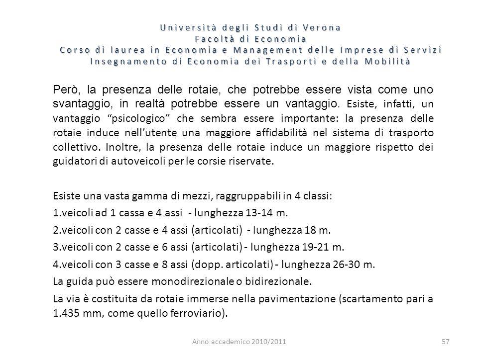 57 Università degli Studi di Verona Facoltà di Economia Corso di laurea in Economia e Management delle Imprese di Servizi Insegnamento di Economia dei