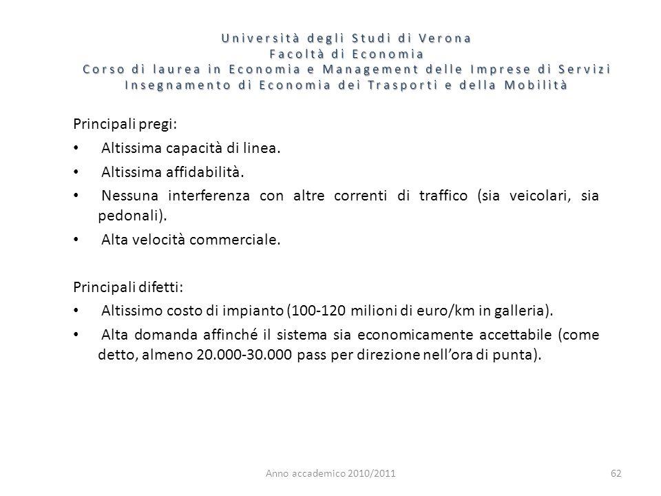 62 Università degli Studi di Verona Facoltà di Economia Corso di laurea in Economia e Management delle Imprese di Servizi Insegnamento di Economia dei