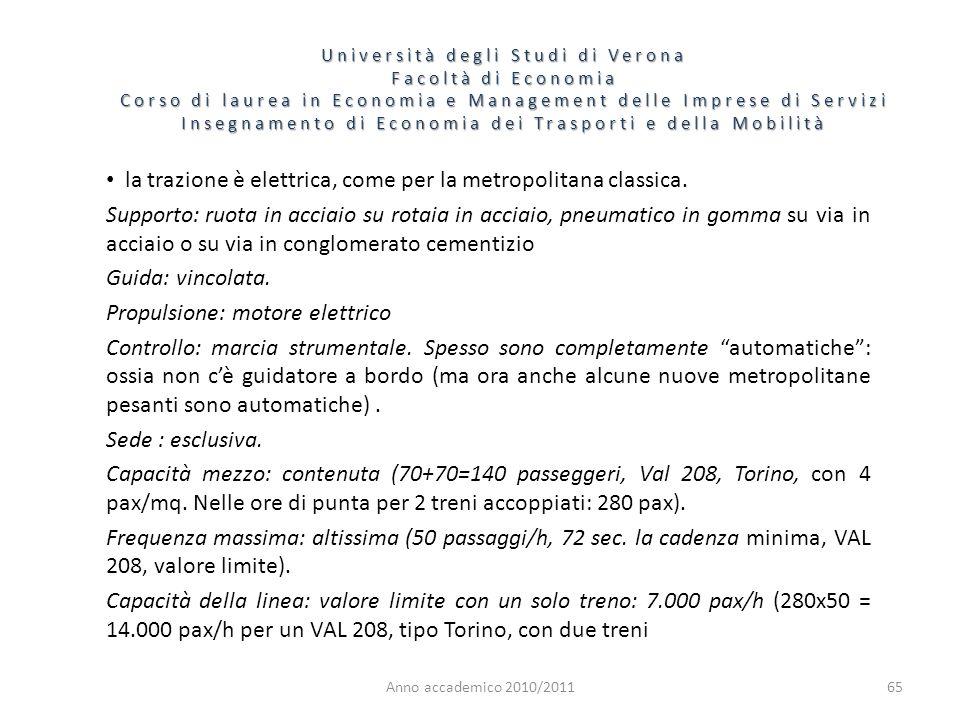 65 Università degli Studi di Verona Facoltà di Economia Corso di laurea in Economia e Management delle Imprese di Servizi Insegnamento di Economia dei