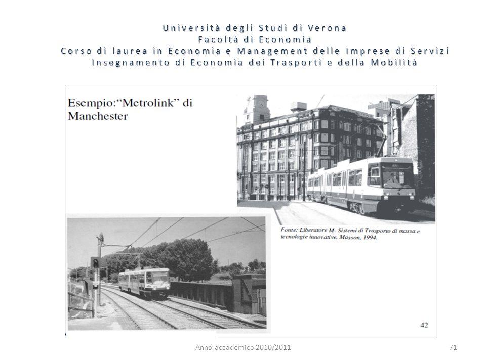 71 Università degli Studi di Verona Facoltà di Economia Corso di laurea in Economia e Management delle Imprese di Servizi Insegnamento di Economia dei