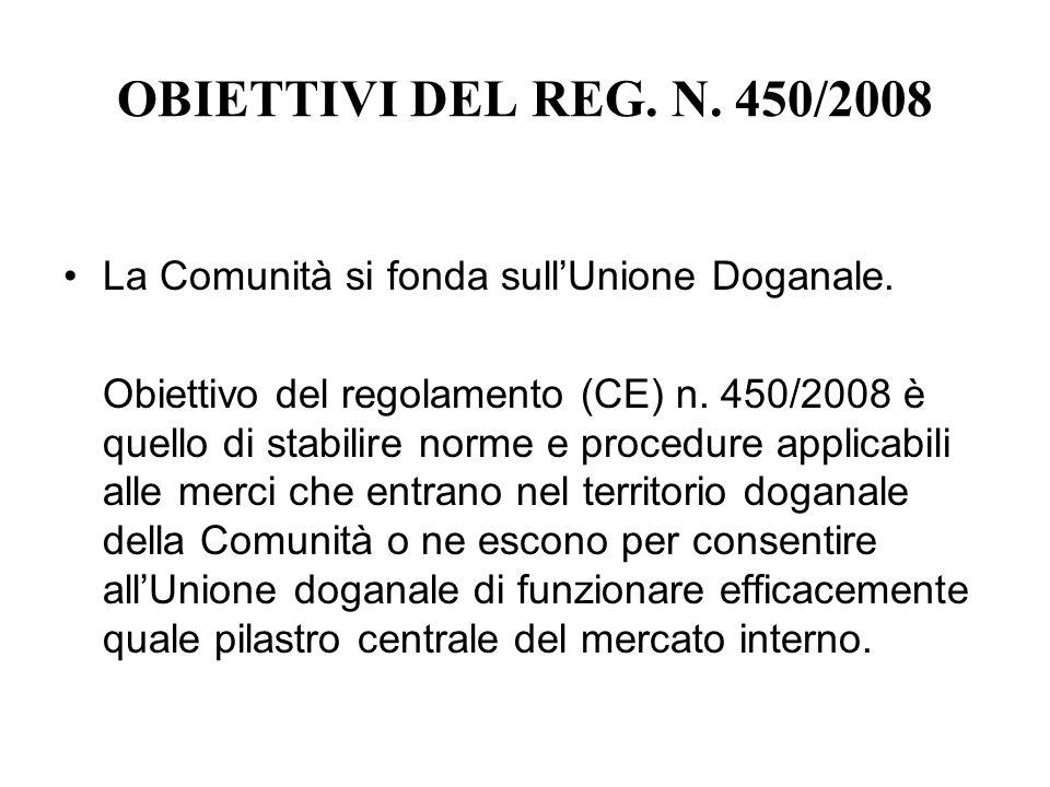 LE RAGIONI DELLA INTRODUZIONE DEL NUOVO CODICE DOGANALE La precedente edizione (Regolamento (CEE) n.