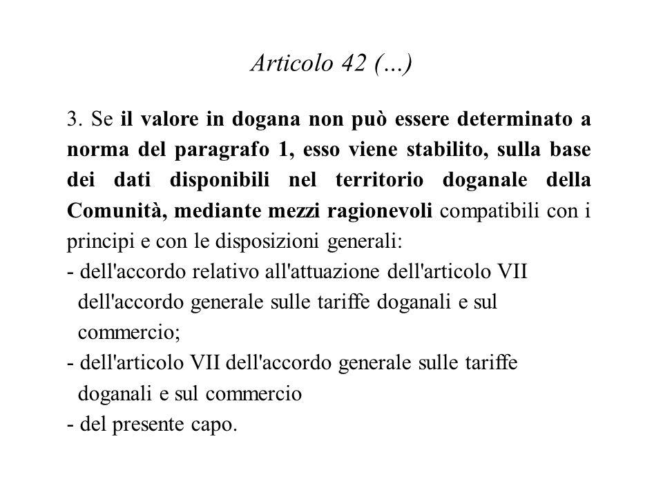 Articolo 42 (…) 3.