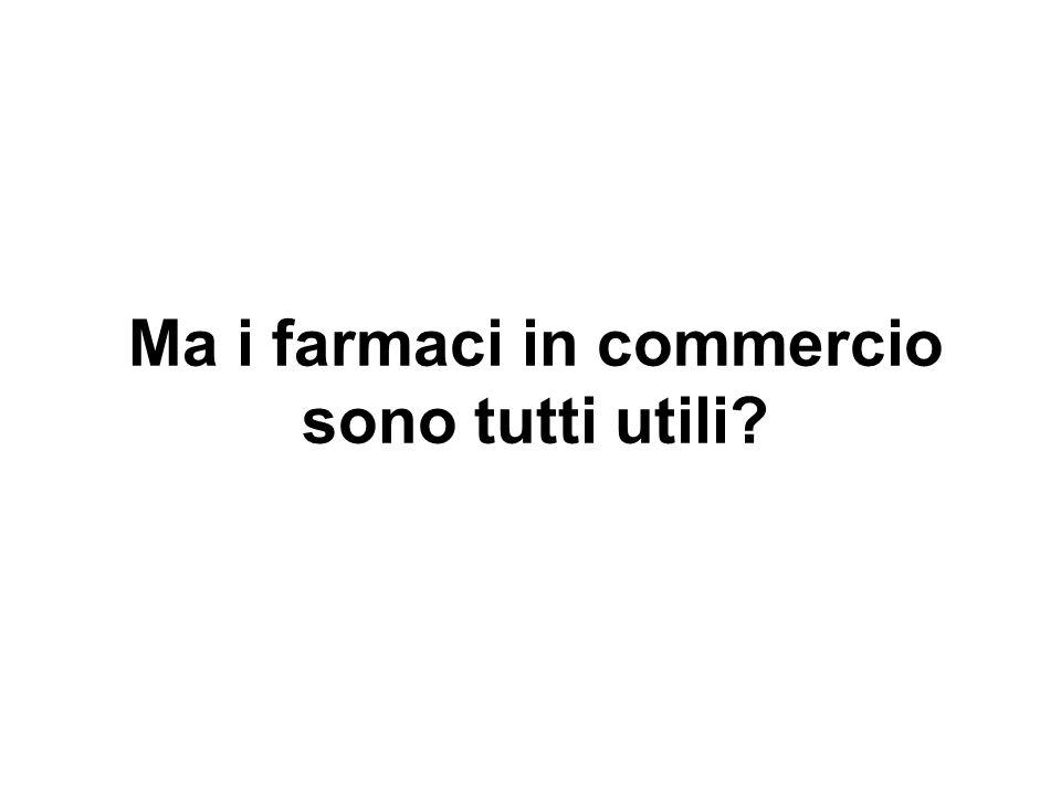 Principi attivi commercializzati in Italia negli ultimi 3 anni Numero di principi attivi 0 20 40 60 80 100 120 140 160 200620072008 Nuove Entità Ter.Conf.