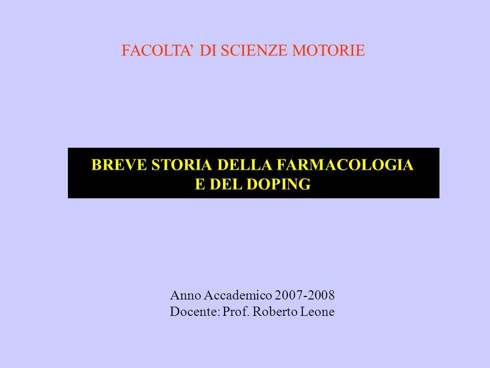 Anno Accademico 2007-2008 Docente: Prof.