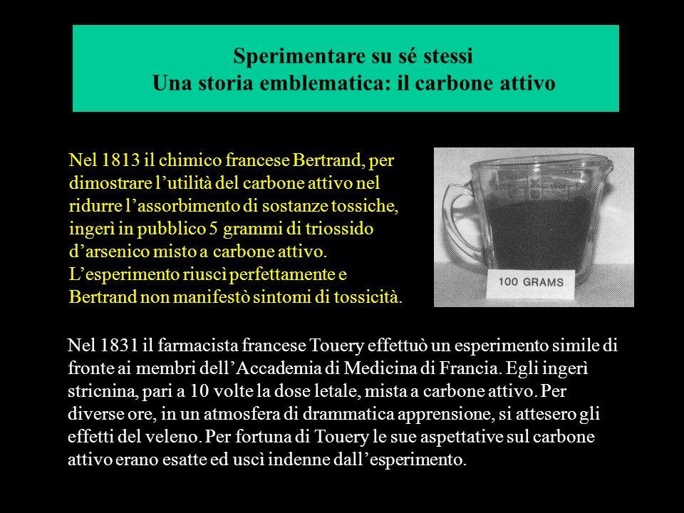 Mitridate VI, re del Ponto (circa 100 a.C.), fu uno dei primi tossicologi sistematici della storia. Utilizzo sé stesso ma più frequentemente i suoi pr