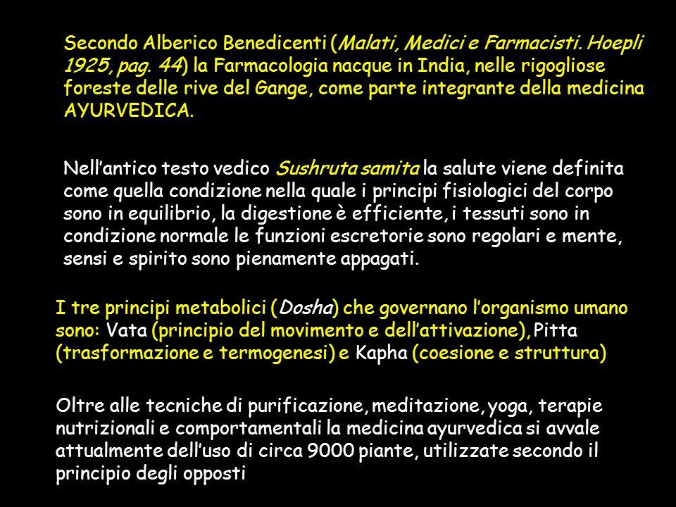 Secondo Alberico Benedicenti (Malati, Medici e Farmacisti.