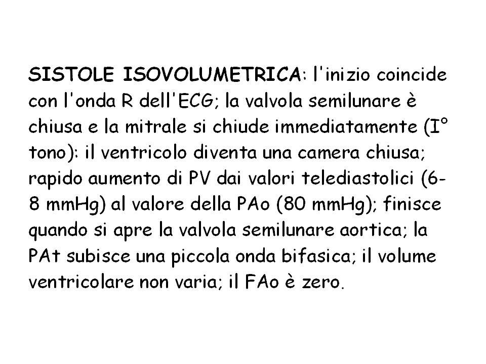 La velocità di salita della PV nella sistole isovolumetrica (derivata prima = P/ t) dipende dalla contrattilità miocardica ed è usata come indice di contrattilità: es.
