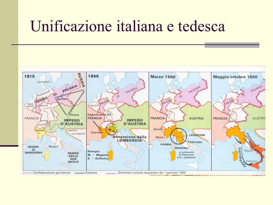 Unificazione italiana e tedesca