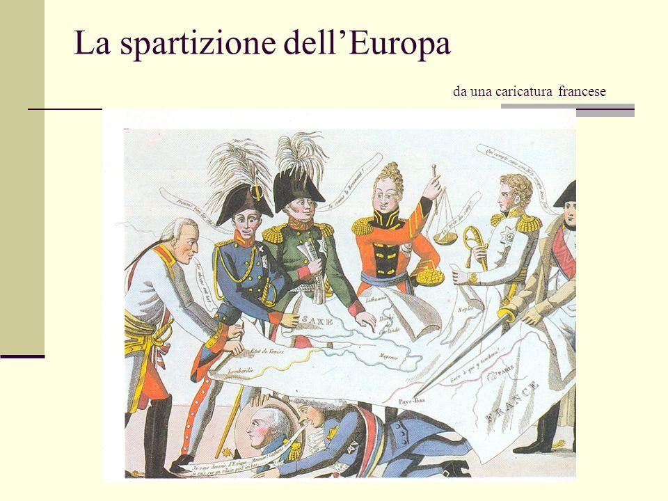 La spartizione dellEuropa da una caricatura francese