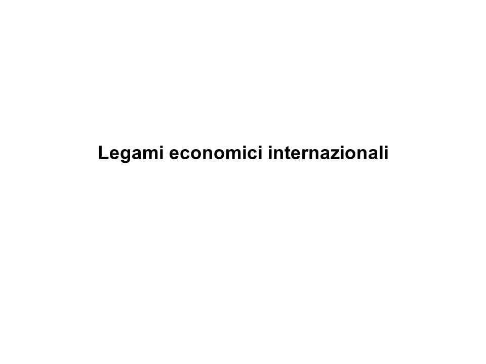 Legami economici internazionali