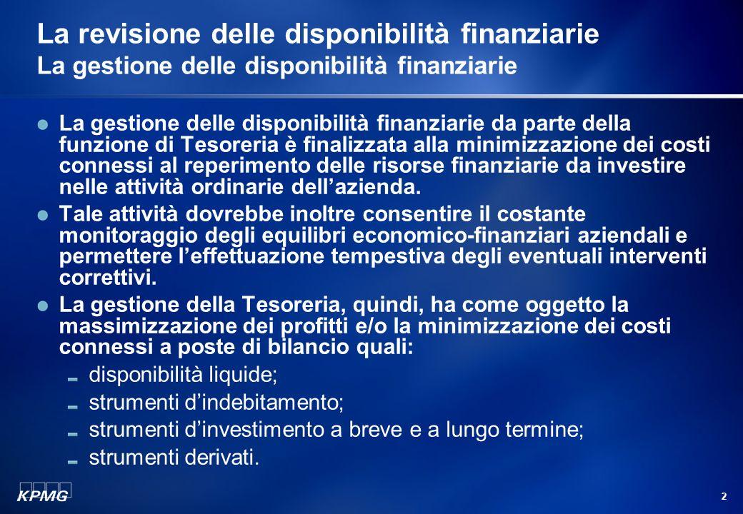 1 Agenda La gestione delle disponibilità finanziarie Le disponibilità finanziarie Disponibilità liquide Strumenti dindebitamento Strumenti dinvestimen