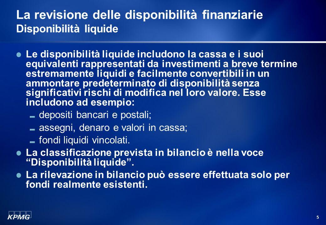4 Agenda La gestione delle disponibilità finanziarie Le disponibilità finanziarie Disponibilità liquide Strumenti dindebitamento Strumenti dinvestimen