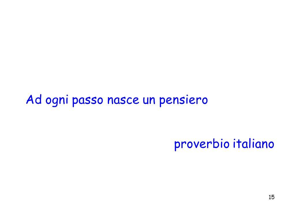 15 Ad ogni passo nasce un pensiero proverbio italiano