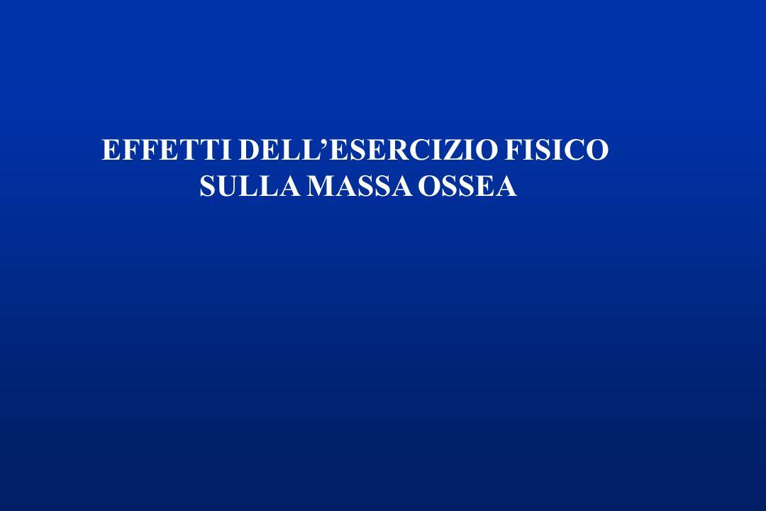 EFFETTI DELLESERCIZIO FISICO SULLA MASSA OSSEA