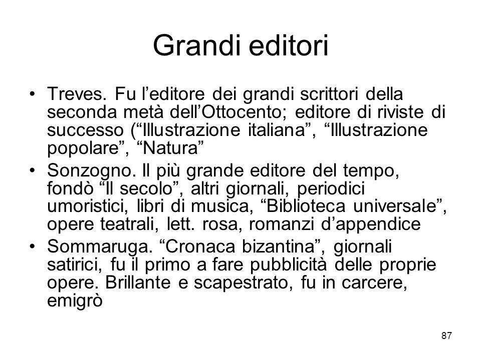 87 Grandi editori Treves.