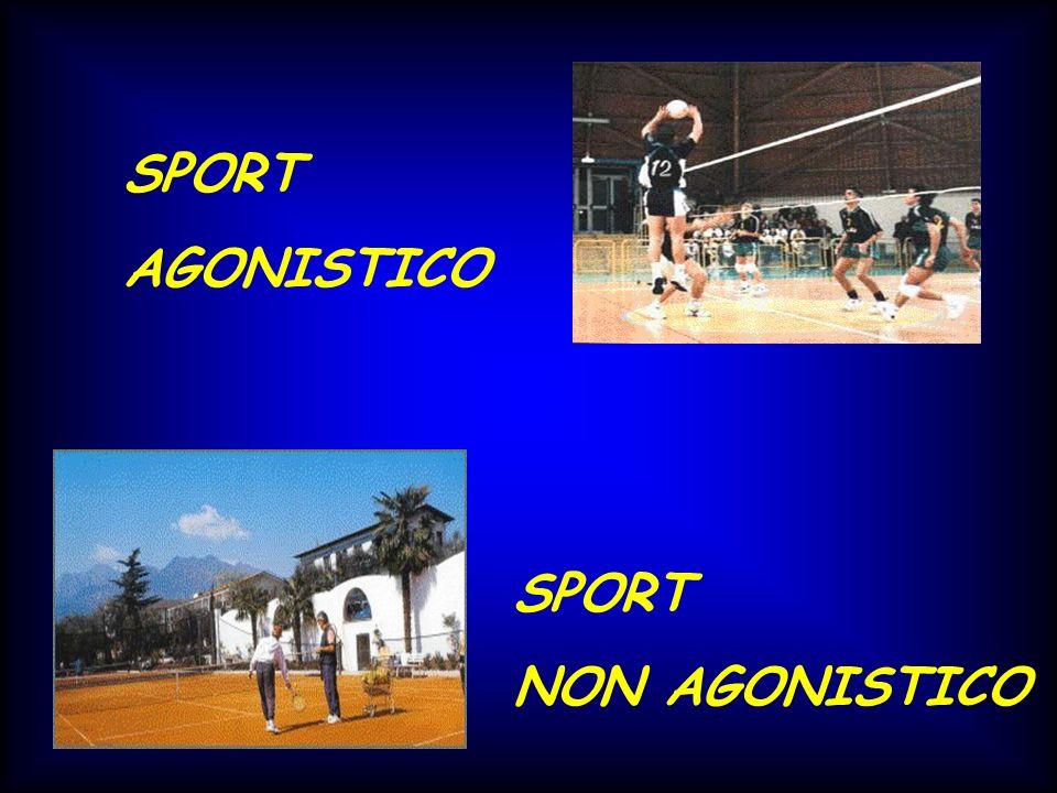 SPORT NON AGONISTICO SPORT AGONISTICO