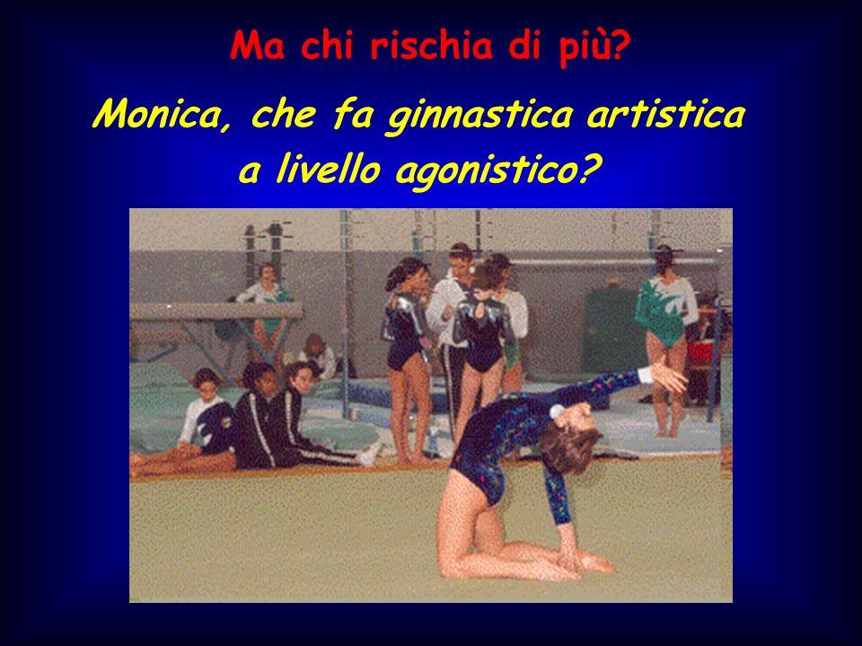 Monica, che fa ginnastica artistica a livello agonistico? Ma chi rischia di più?