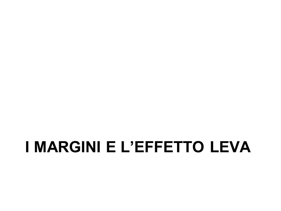 I MARGINI E LEFFETTO LEVA