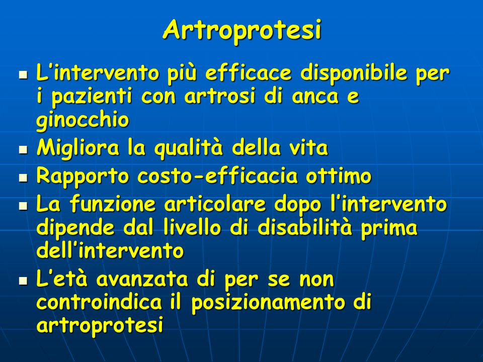 Artroprotesi Lintervento più efficace disponibile per i pazienti con artrosi di anca e ginocchio Lintervento più efficace disponibile per i pazienti c