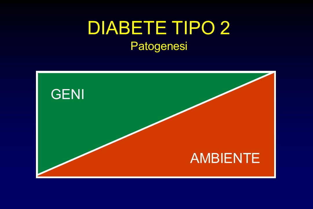 AMBIENTE DIABETE TIPO 2 Patogenesi GENI