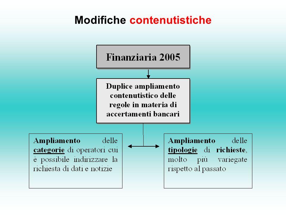 Modifiche contenutistiche