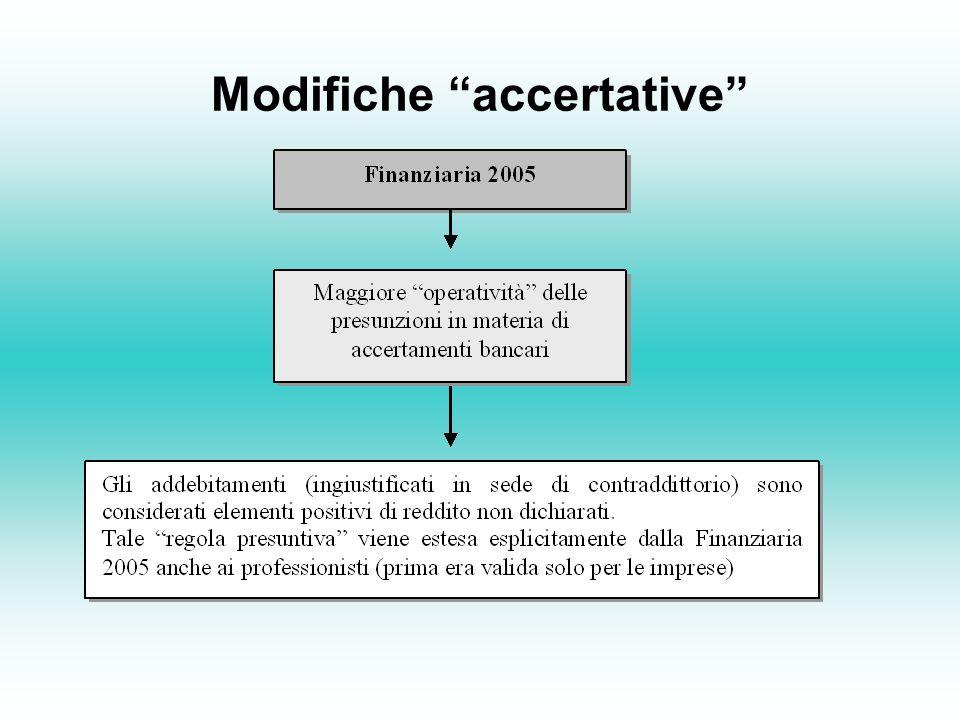 Modifiche accertative