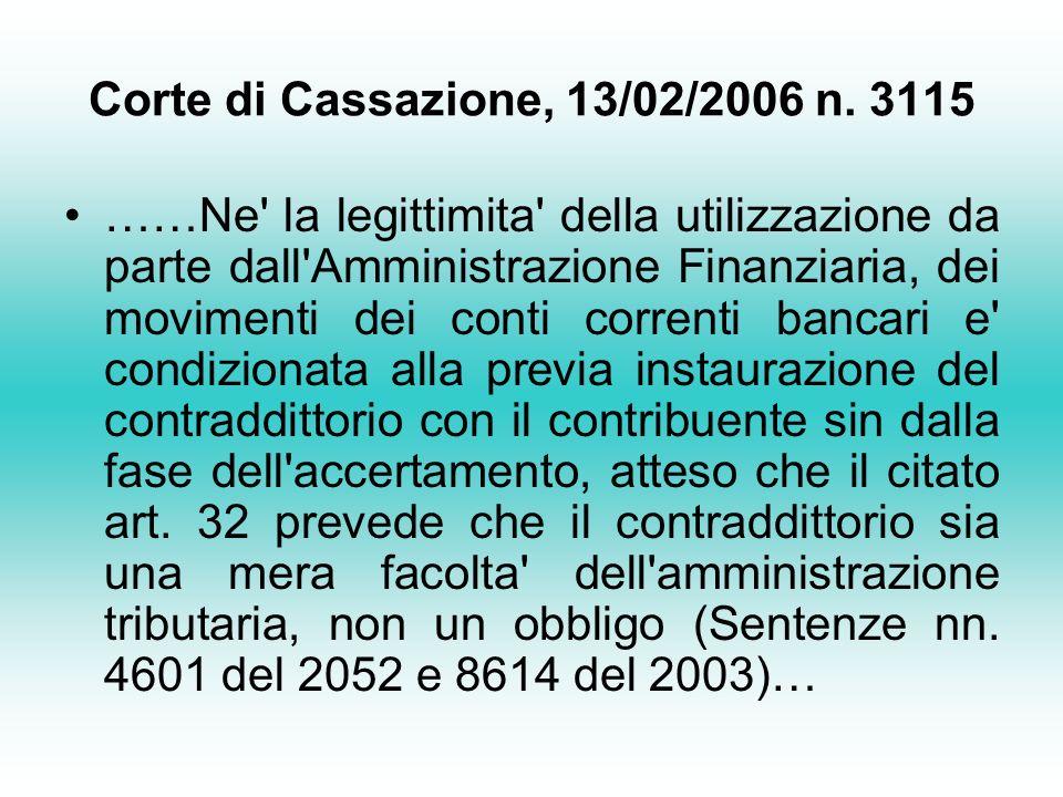 Corte di Cassazione, 13/02/2006 n.