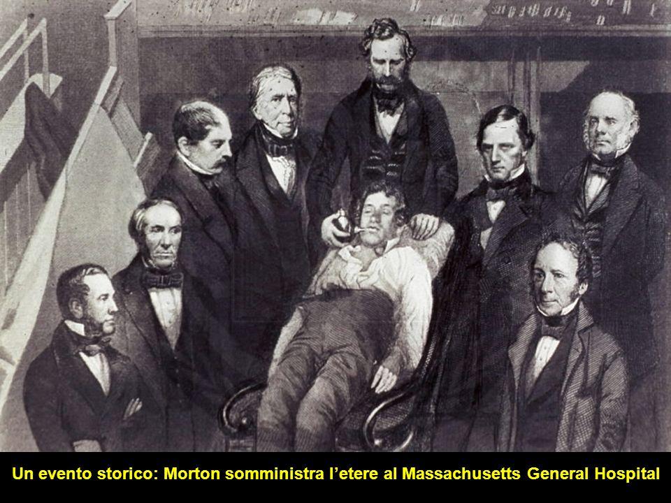 Un evento storico: Morton somministra letere al Massachusetts General Hospital