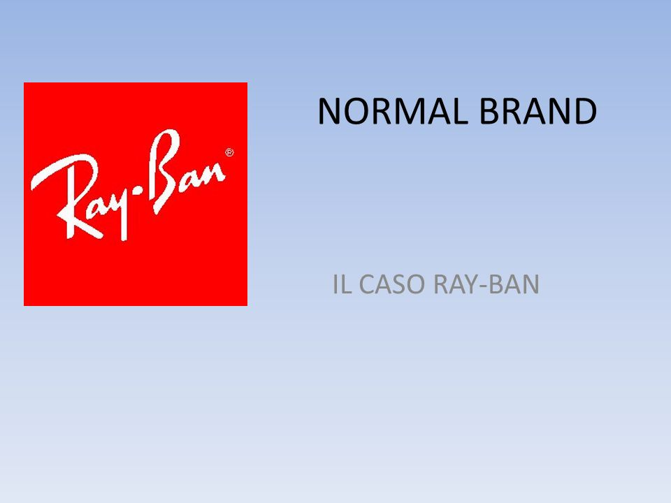 NORMAL BRAND IL CASO RAY-BAN