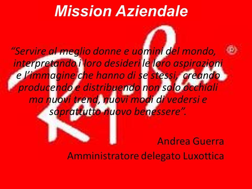 Mission Aziendale Servire al meglio donne e uomini del mondo, interpretando i loro desideri le loro aspirazioni e limmagine che hanno di se stessi, cr