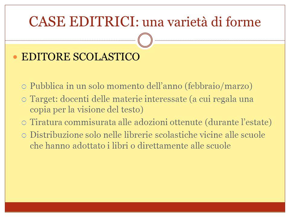 CASE EDITRICI : una varietà di forme EDITORE RATEALE Prodotto: grandi opere (ex.