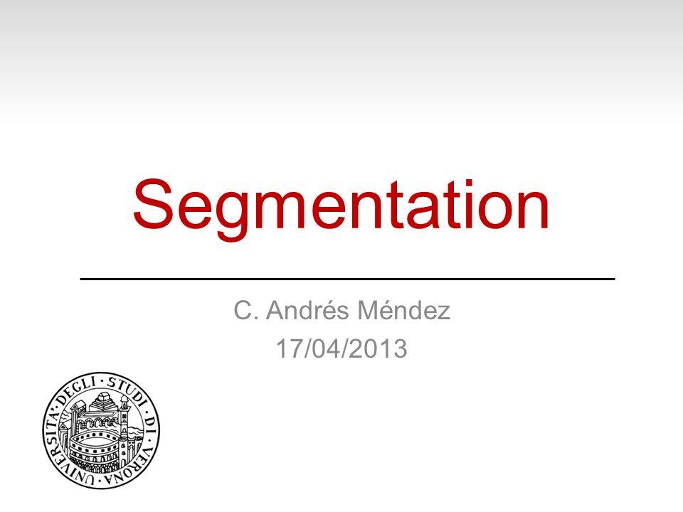 Segmentation C. Andrés Méndez 17/04/2013