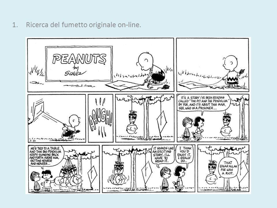 1.Ricerca del fumetto originale on-line.