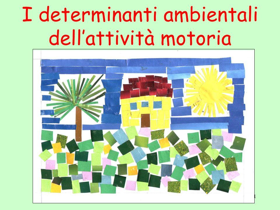 1 I determinanti ambientali dellattività motoria