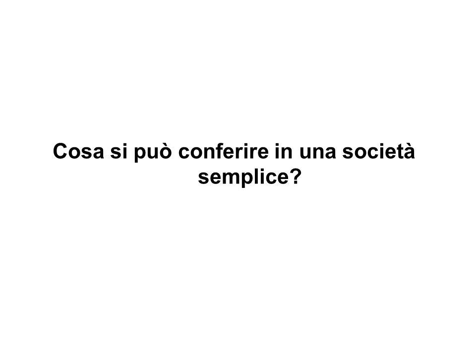 Cosa si può conferire in una società semplice?