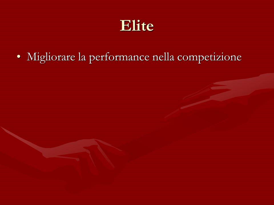 Elite Migliorare la performance nella competizioneMigliorare la performance nella competizione