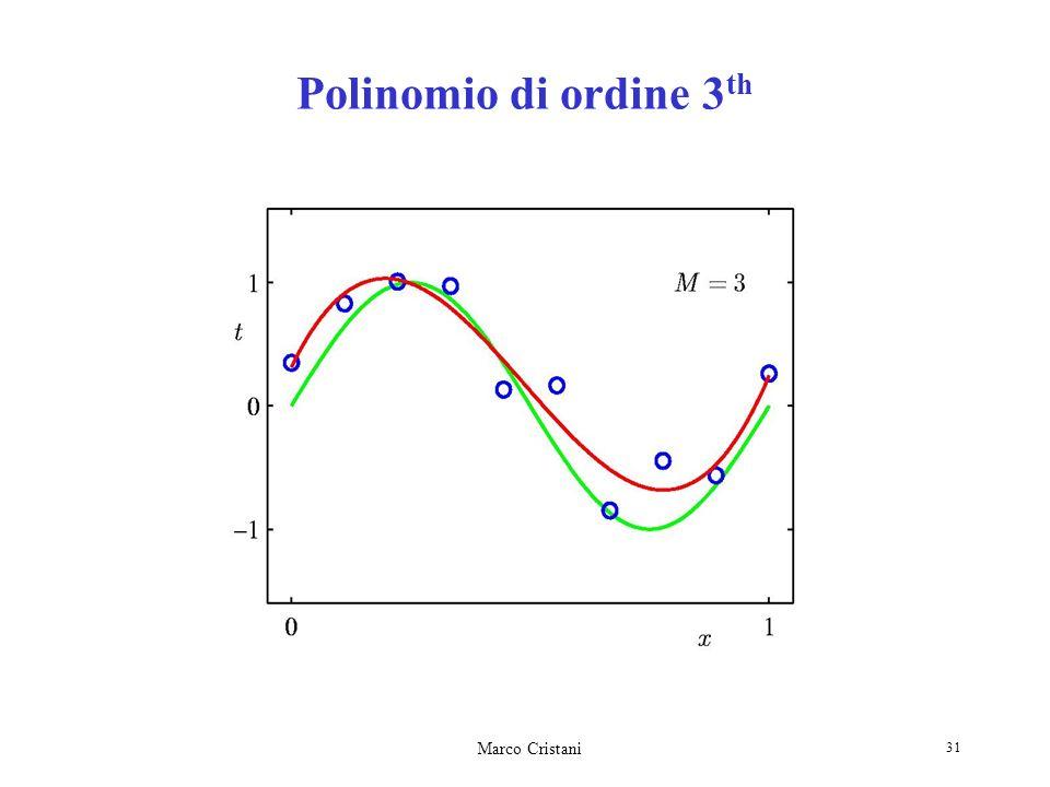 Marco Cristani 31 Polinomio di ordine 3 th