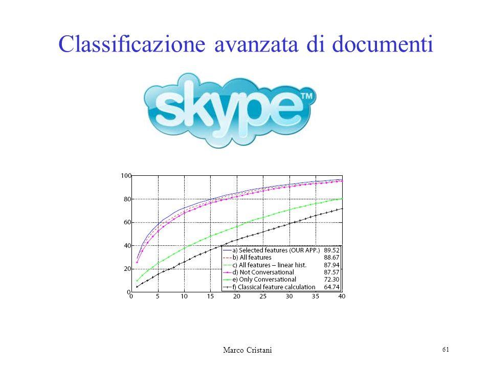 Marco Cristani 61 Classificazione avanzata di documenti