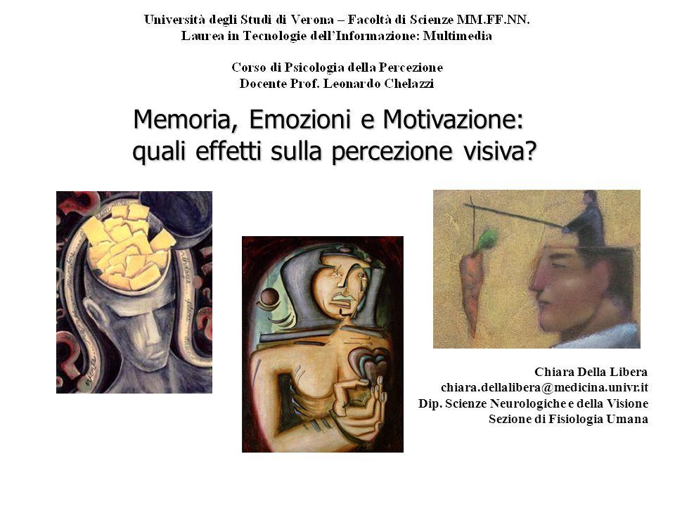 Memoria, Emozioni e Motivazione: quali effetti sulla percezione visiva.