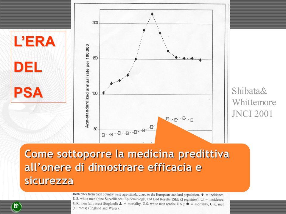 Shibata& Whittemore JNCI 2001 LERADELPSA Come sottoporre la medicina predittiva allonere di dimostrare efficacia e sicurezza